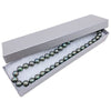 "8 1/16"" x 2 1/4"" x 1 3/8"" Pearl Gray Cotton Filled Box"