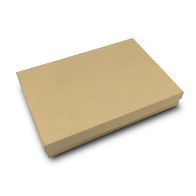 "8 1/8""x5 5/8""x1 3/8"" Kraft Cotton Filled Paper Box"
