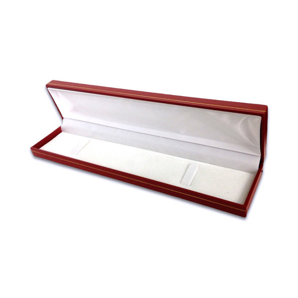 "8 5/8 "" x 2 1/8"" Red Leatherette Bracelet/Watch Jewelry Box"