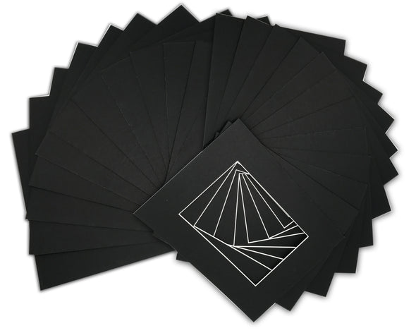 "Pack of 25 Pre-Cut 8""x10"" Black Picture Mat Boards"