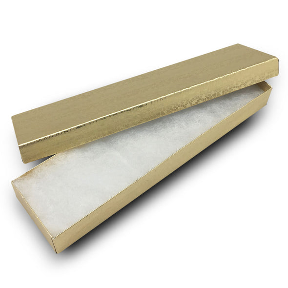 "8""x2""x1""H Gold Foil Cotton Filled Paper Boxes"