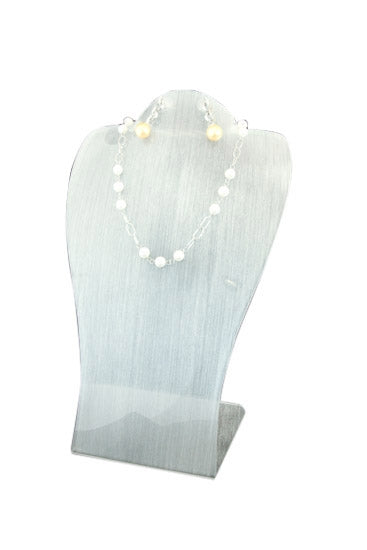 Textured Acrylic Single Long Necklace & Earring Jewelry Display