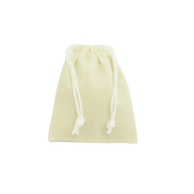 Small Beige High Quality Velvet Pouch Bags Party Favors