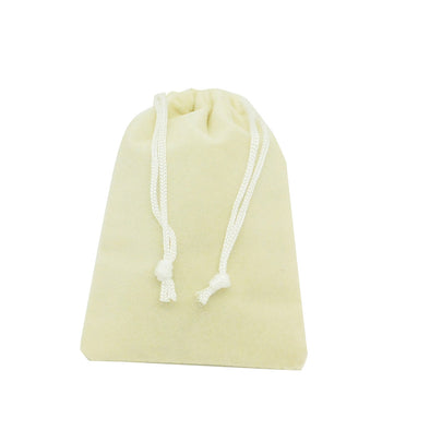Medium Beige High Quality Velvet Pouch Bags Party Favors