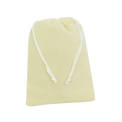 Large Beige High Quality Velvet Pouch Bags Party Favors