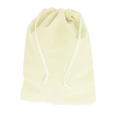 X-Large Beige High Quality Velvet Pouch Bags Party Favors