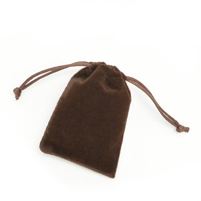 Small Brown High Quality Velvet Pouch Bags Party Favors