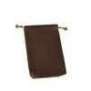 Medium Brown High Quality Velvet Pouch Bags Party Favors