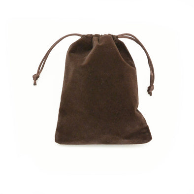 Large Brown High Quality Velvet Pouch Bags Party Favors