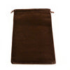 X-Large Brown High Quality Velvet Pouch Bags Party Favors