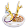 Ceramic Gold Deer Antler Jewelry Dish