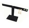 Black Velvet Earring T-Bar for Jewelry Display 6 Earrings
