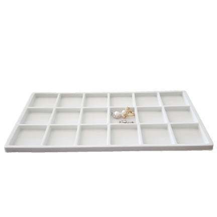 18 Compartments White Flocked Tray Insert