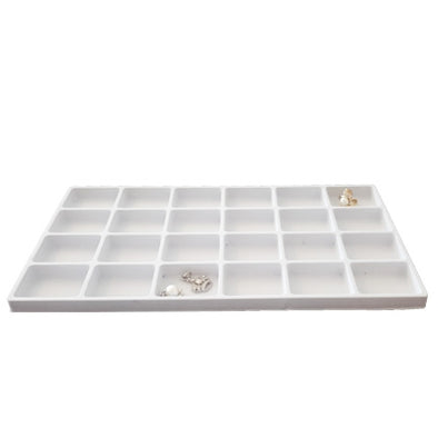 24 Compartments White flocked Tray Insert