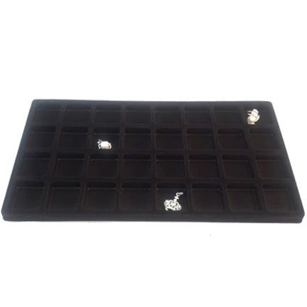 32 Compartments Black Flocked Tray Insert