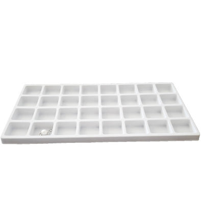 32 Compartments White flocked Tray Insert