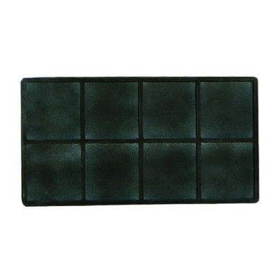 8 Compartments Black flocked Tray Insert  Bulk Order Discount!