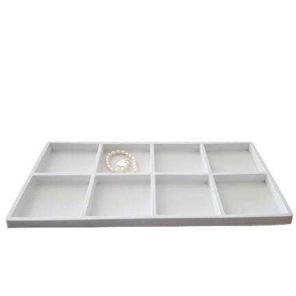 8 Compartments White flocked Tray Insert