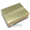 "2 1/8""Wx 1 5/8""Dx 3/4""H Gold Cotton Filled Paper Box"