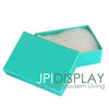 "1 7/8""Wx 1 1/4""Dx 5/8""H Teal Green Cotton Filled Paper Box"