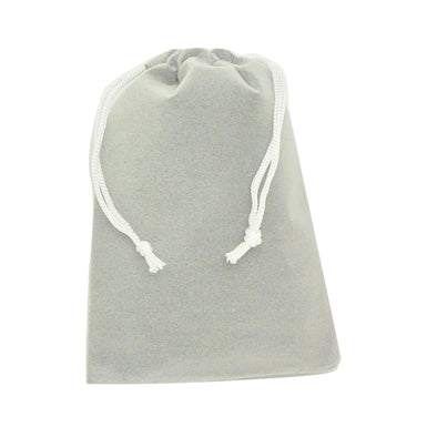 Large Gray High Quality Velvet Pouch Bags Party Favors
