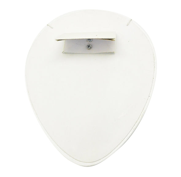 "4""H Flat Round Lay Down White Leatherette Necklace Display"