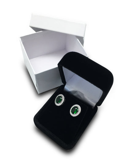 Deluxe Black Earring Jewelry Gift Box