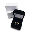 Deluxe Black Wedding Ring Jewelry Gift Box