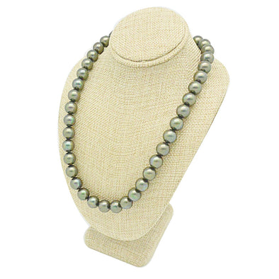 "6 3/4""H Deluxe Beige Burlap Necklace Bust Neck Form"