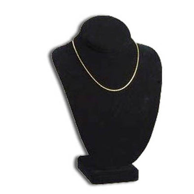"12""H Black Velvet Necklace Bust Display"