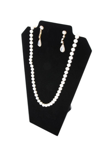 Black Velvet Easel Display Earring and Necklace 8 1/4x12 1/2""