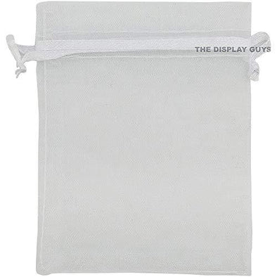 White Organza Drawstring Pouches