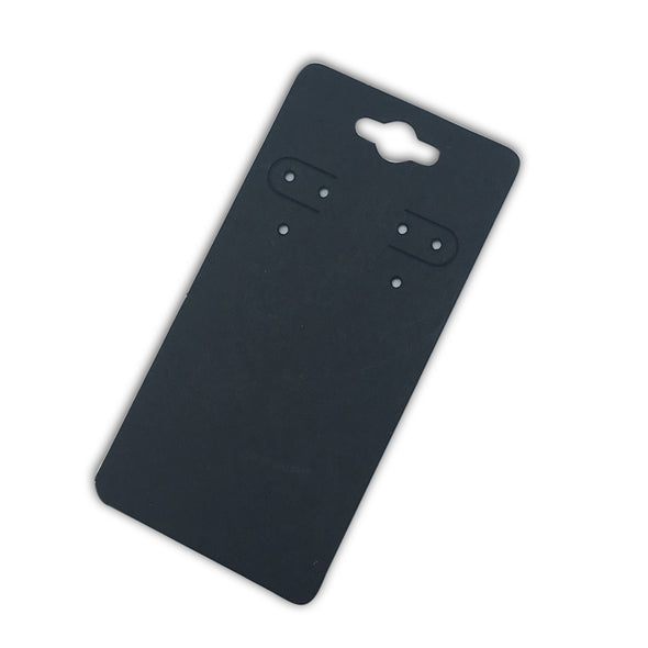 "2 1/4""Wx4 5/8""H Black Paper Earring Card"