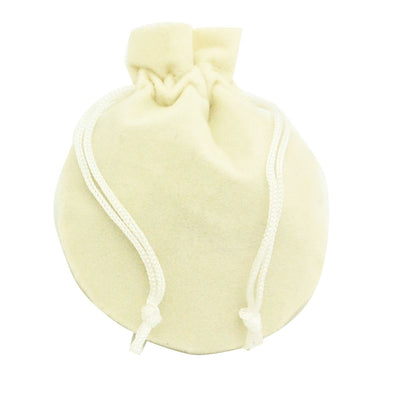 Medium Beige High Quality Velvet Round Pouch Bags Party Favors