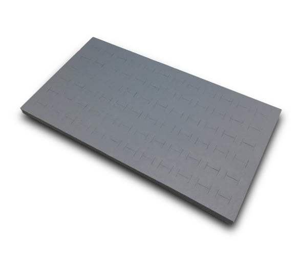 Grey Leatherette Foam for 72 Ring Standard Jewelry Tray Insert