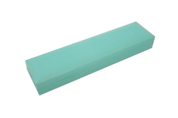 "8 5/8""x2 1/8""x1""H Teal Green Leatherette Bracelet/Watch Box"