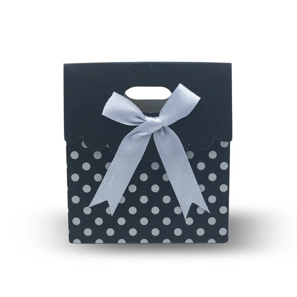 12pcs Black Bowknot Paper Gift Bag Tote (Small)