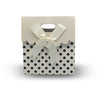12pcs White Polka Dots Bowknot Paper Gift Bag Tote (small)