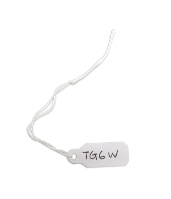 "3/8""Wx1""L White String Paper Tags"