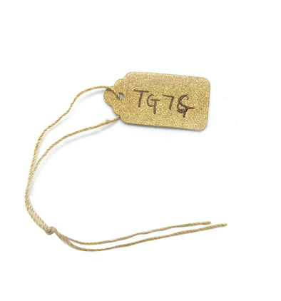 "1/2""WX1""L Gold Paper String Tag"