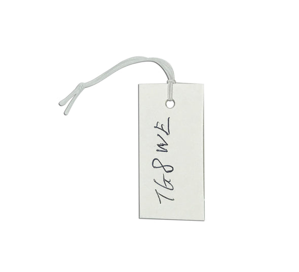 100PCS White 20X40mm Paper Knotted Elastic String Price Tag