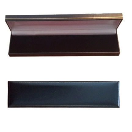 "8 5/8""x2 1/8""x1""H Black Leatherette Bracelet/Watch Box"