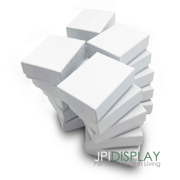 "5""x4""x1""H White Cotton Filled Paper Box"