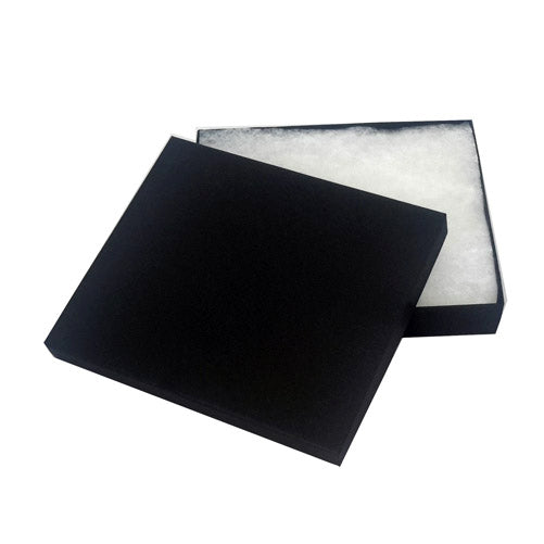 "5""x4""x1""H Matte Black Cotton Filled Paper Box"