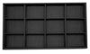 Black Linen 12 Compartment Stackable Jewelry Tray