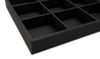 Black Linen 15 Compartment Stackable Jewelry Tray
