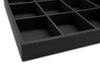 Black Linen 18 Compartment Stackable Jewelry Tray