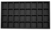 Black Linen 32 Compartment Stackable Jewelry Tray