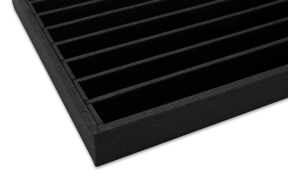 Black Linen 9 Row Compartment Jewelry Display Tray