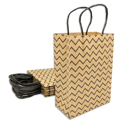 Black Wave Kraft Paper Shopping Gift Bags